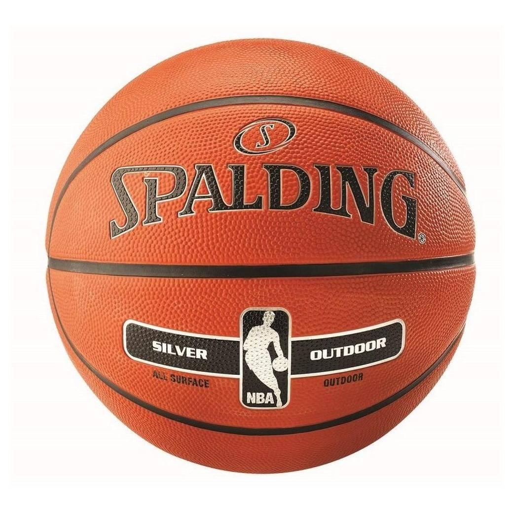 ballon de basket spalding nba silver outdoor. Black Bedroom Furniture Sets. Home Design Ideas