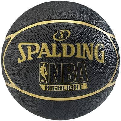 ballon de basket nba highlight black 39 n gold spalding. Black Bedroom Furniture Sets. Home Design Ideas