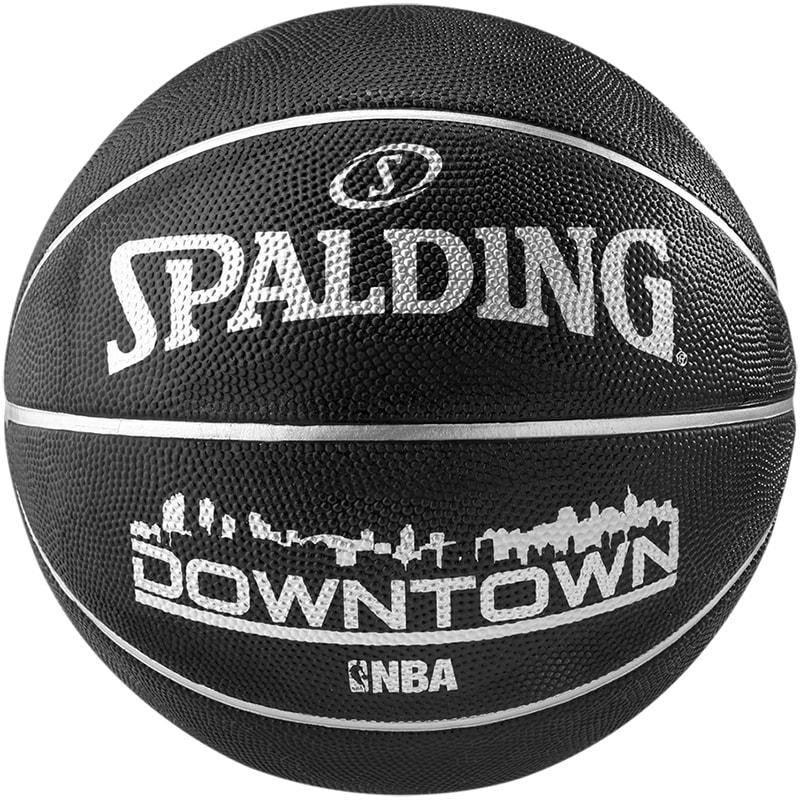 ballon basket nba ext rieur downtown noir. Black Bedroom Furniture Sets. Home Design Ideas